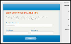 email list signup form s drive academy mailing lists part 2 coffeecup software