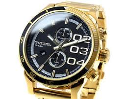 new diesel watch men 039 s chronograph black dial yellow gold image is loading new diesel watch men 039 s chronograph black
