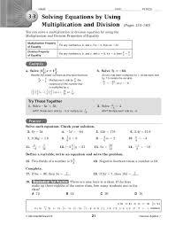 algebra 1 lesson 3 2 solving multi step equations