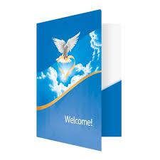 Templates For Church Programs Folder Template Dove Of Love Church Visitors Welcome Folder