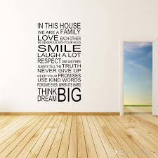new style for large quote in this house rules family art removable wall sticker transfer vinyl decal bedroom sitting room diy home wall art stickers home  on house rules wooden wall art with new style for large quote in this house rules family art removable