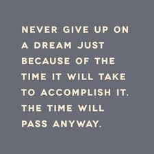 Quotes About Not Giving Up On Your Dreams Best of Never Give Up Because Of The Time Required
