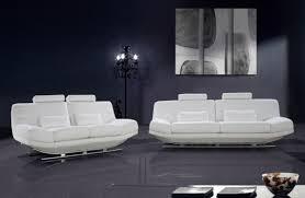 Italian Leather Living Room Sets Divani Casa Viper Contemporary Leather Sofa Set