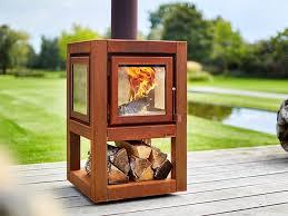 rb73 quaruba l mobile wood burning outdoor freestanding corten fireplace