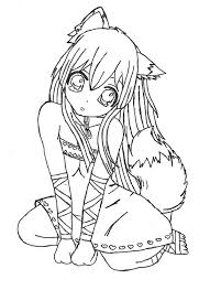 Anime Coloring Pages Chibi Fox Girl Anime Coloring Page Chibi Anime