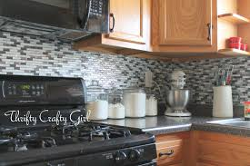 Diy Tile Kitchen Backsplash Thrifty Crafty Girl Easy Kitchen Backsplash With Smart Tiles