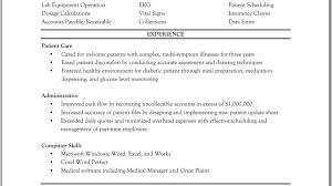 template free sample resume for laboratory technician template glamorous entry level medical assistant resume template medical sample of a medical assistant resume