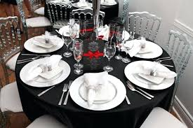 white table settings. Black And Silver Table Setting Ideas White Quotes View Larger Settings