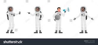 Astronaut Character Design Astronaut Vector Character Design Stock Vector Royalty Free