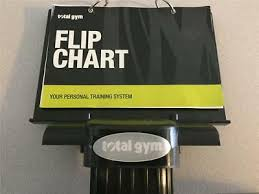 Total Gym Flip Chart With Base Ebay