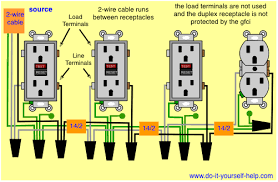 wiring diagrams for ground fault circuit interrupter receptacles multiple gfci s and a duplex receptacle
