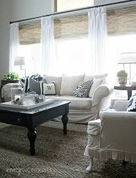 Window Treatments For Living Room Crazy Wonderful Woven Wood Shades Natural Rug Roman Shades And