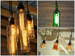 diy bottle lamp make a table lamp with recycled bottles pendant lighting table lamps