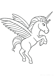 Coloring Page Unicorn Unicorn Coloring Pages Cute Unicorn Coloring