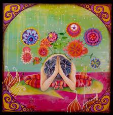 original yoga painting omwoman yoga meditate. Our Wellspring Of Appreciative Joy (Mudita: The Third Four Brahma Viharas)   Sangha Without Borders Donald Francis Micallef/Karma Zangpo Home Original Yoga Painting Omwoman Meditate R