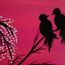 love bird painting bird lover valentines gift contemporary canvas wall art acrylic painting canvas art lovers on wall art lovers with love bird painting bird lover valentines from preethiart