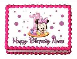 Amazon Edible Cake Topper Baby Minnie Mouse Baby s 1st