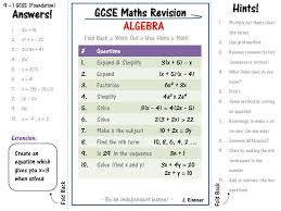 gcse maths revision foundation 9 1 revise independently worksheets algebra set of