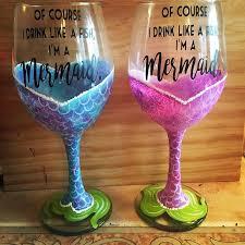mermaid wine glass paint night the pop medford medford 18 august