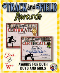 Fillable Certificates Track And Field Awards Certificates Fillable By Dp Sharpe Tpt