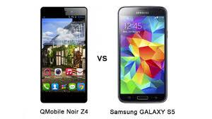 QMobile Noir Z4 vs. Samsung GALAXY S5 ...