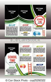 tri fold school brochure template tri fold school brochure template vector illustration vector