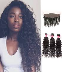 Hairstyles For Long Curly Hair 93 Amazing 24 Bundles Deep Curly Hair With PrePlucked Hairline Lace Frontal