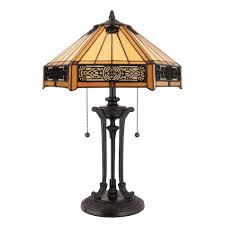 tiffany indus table lamp in vintage bronze
