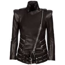 balmain zip leather jacket
