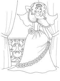 Schattige Prinses Kleurplaat Gratis Kleurplaten Printen