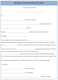 Business Letter Of Reference Template Download Editable