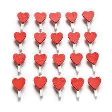 <b>20Pcs</b>/<b>Pack</b> Home Decoration Mini <b>Wooden</b> Heart Love Clothespin ...