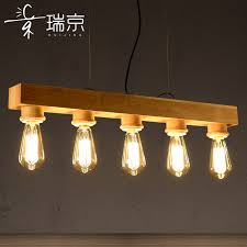 get ations rui jing long strip of wood chandelier modern minimalist living room den restaurant bar creative personality