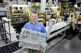 who was recently named manager for general motors powertrain saginaw metal casting operations and gm powertrain bay city holds a foam cer of a
