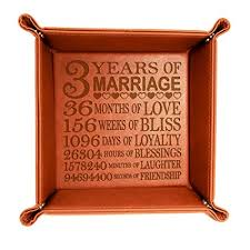 kate posh 3 years marriage end leather catchall valet tray our 3rd wedding anniversary