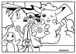 Pok Mon Color Page Coloring Pages For Kids Cartoon Characters