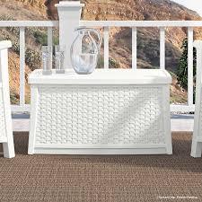 wicker lane outdoor white patio furniture storage deck box white wicker deck box sevenstonesinc