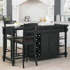 Kitchen Island Home Styles Grand Torino Black Kitchen Island With Seating 5012