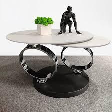 round white stone swivel coffee table