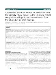 Ethnic Groups In The Uk End Of Life Care For Minority Ethnic Groups In The Uk Docsity
