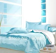 baby blue comforters light blue white mix match colors smooth tribute silk satin bed linen girls
