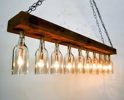 ceiling lights wine glass chandelier star perspex simple fake diy bottle pillar candle black erfly
