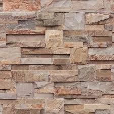3d Effect Natuurlijke Leisteen Tegel Bruin Oranje Behang Stenen
