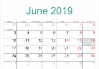 India Calendar 2019 With When Is The Fathers Day In Public Holidays ...