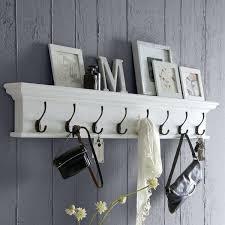 wall mount shelf with hooks breakwater bay belle isle 8 hook wall mounted coat rack reviews white wall mount shelf with hooks