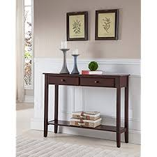 cheap entryway tables. Kings Brand Furniture Console Entryway Table With 2 Drawers, Walnut Finish Wood Cheap Tables
