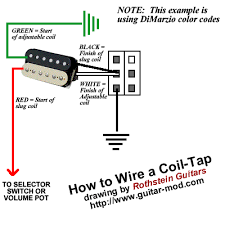 rothstein guitars • serious tone for the serious player how do i wire a coil tap for a humbucker this classic mod is also known as a coil split which will short one of the coils of your humbucker so you are left
