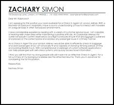 Thank You For Considering Me For This Position Check In Agent Cover Letter Sample Cover Letter Templates