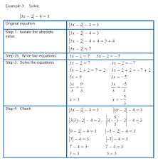 systems of linear equations solving absolute value equations and inequalities practice c