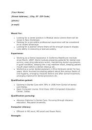 Dental Assistant Resume Objective Dental Assistant Student Resume Objective On Resume For First Job 66